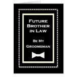 Invitación futura del boda del padrino de boda de  tarjeta