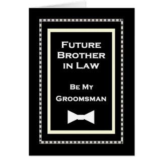 Invitación futura del boda del padrino de boda de tarjeta de felicitación