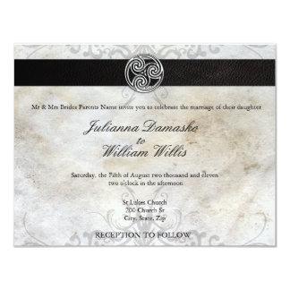 Invitación gaélica irlandesa del boda del nudo invitación 10,8 x 13,9 cm