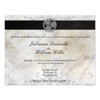Invitación gaélica irlandesa del boda del nudo cél