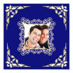Invitación gay de encargo de la foto del boda invitación 13,3 cm x 13,3cm