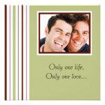Invitación gay de encargo del boda de la foto
