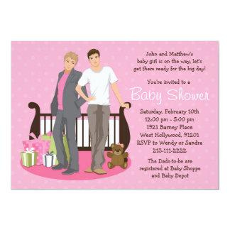 Invitación gay de la fiesta de bienvenida al bebé