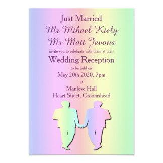 Invitación gay de la recepción nupcial del orgullo