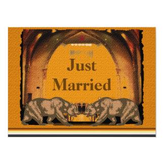 Invitación gay de la recepción nupcial del oso invitación 16,5 x 22,2 cm