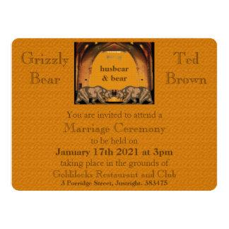 Invitación gay del boda del oso californiano para invitación 16,5 x 22,2 cm