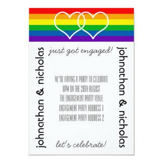 Invitación gay del fiesta de compromiso de la