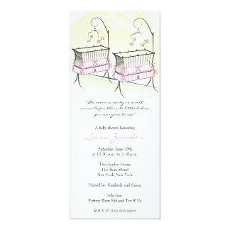 Invitación gemela de la fiesta de bienvenida al invitación 10,1 x 23,5 cm