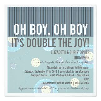 Invitación gemela de la fiesta de bienvenida al invitación 13,3 cm x 13,3cm