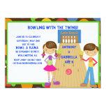 Invitación gemela de la fiesta de cumpleaños de invitación 13,9 x 19,0 cm