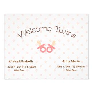 Invitación gemela de los chicas