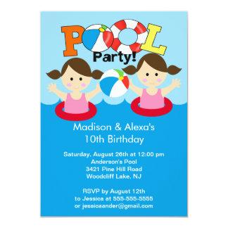 Invitación gemela LINDA del cumpleaños de la