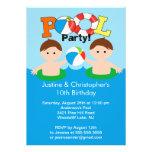 Invitación gemela LINDA del cumpleaños de la fiest
