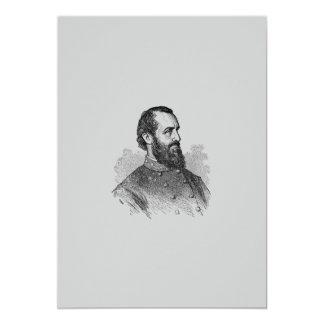 Invitación general de la guerra civil invitación 12,7 x 17,8 cm