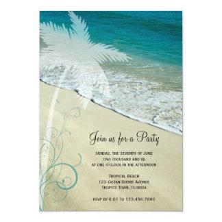 Invitación general del fiesta de la playa tropical invitación 12,7 x 17,8 cm