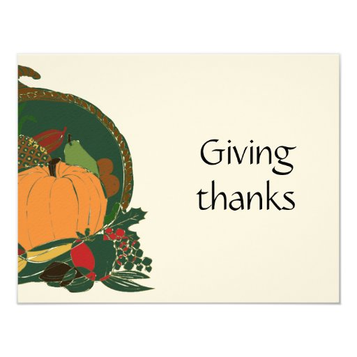 Invitación generosa de la acción de gracias de la