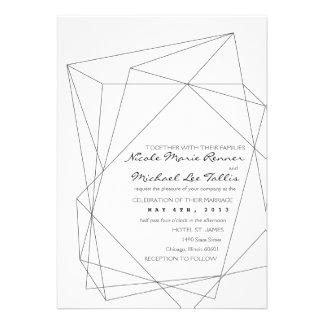 Invitación geométrica del boda de la piedra precio