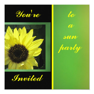Invitación - girasol amarillo - multiusos invitación 13,3 cm x 13,3cm