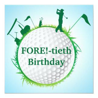 Invitación Golfing del cumpleaños de los hombres