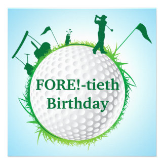 Invitación Golfing del cumpleaños de los hombres 4