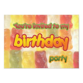 invitación gomosa del cumpleaños de los osos
