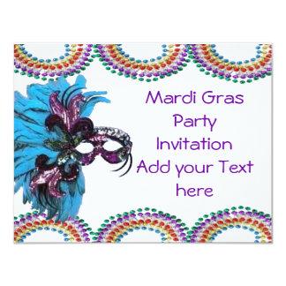Invitación gorda del fiesta de martes del carnaval invitación 10,8 x 13,9 cm