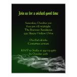Invitación gótica de Halloween del humo verde