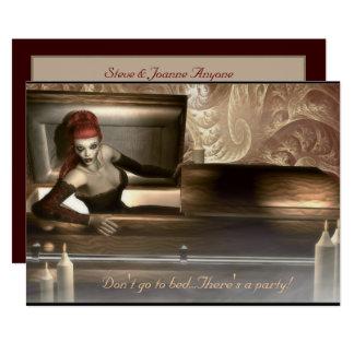 Invitación gótica del fiesta del vampiro