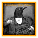 Invitación gótica del Pájaro-Man Halloween