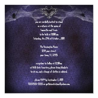 Invitación gótica del vampiro del corazón de la invitación 13,3 cm x 13,3cm