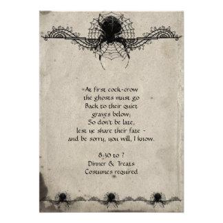 Invitación gótica elegante del fiesta de Halloween
