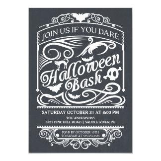 Invitación gótica fantasmagórica de Halloween de