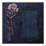 Invitación gótica oscura del boda invitación 13,3 cm x 13,3cm