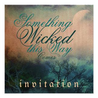 Invitación gótica traviesa del boda de Halloween