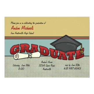 Invitación graduada invitación 12,7 x 17,8 cm