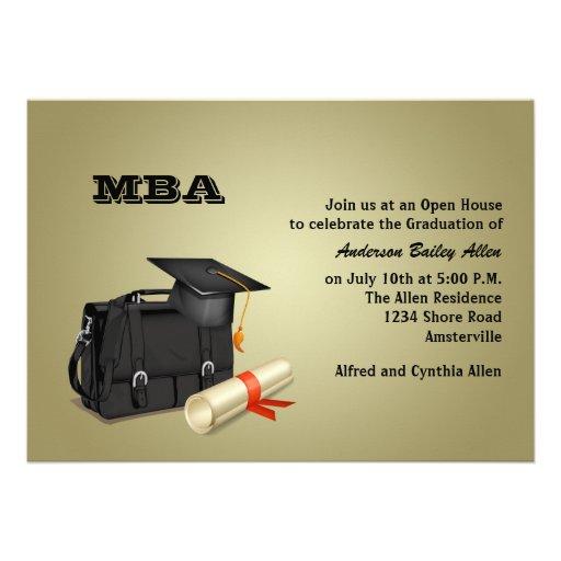 Invitación graduada de la graduación del negocio