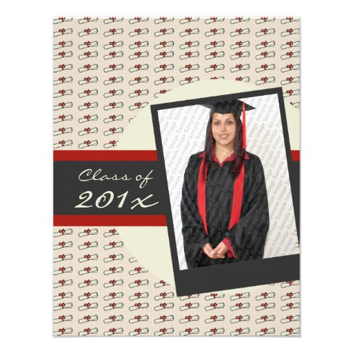 Invitación graduada del diploma