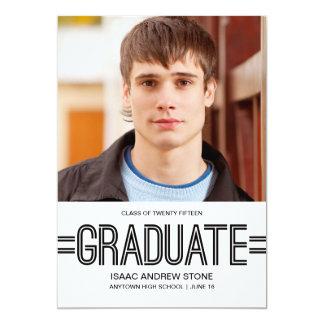 Invitación graduada elegante de la graduación de