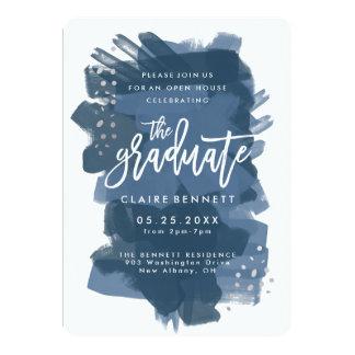 Invitación graduada pintada de la graduación de la
