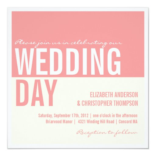 Invitación gráfica moderna intrépida del boda del
