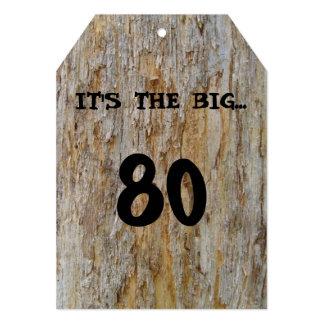 Invitación grande de 80 cumpleaños invitación 12,7 x 17,8 cm