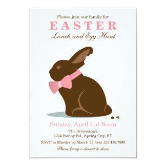 Invitación grande de Pascua del conejito del