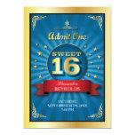 Invitación grande del dulce 16 del golpe
