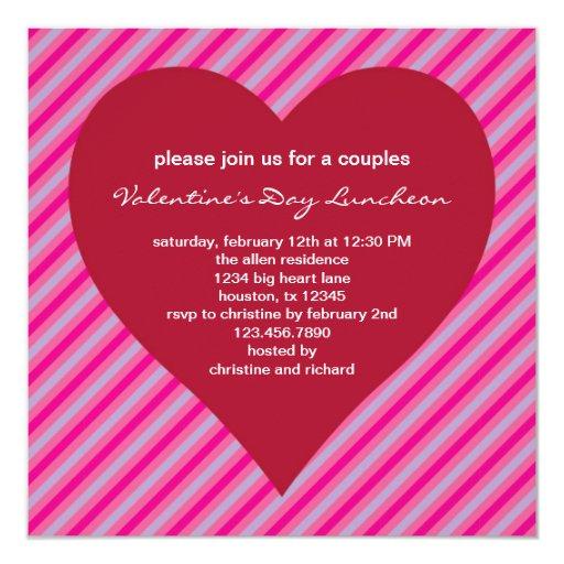 Invitación grande del el día de San Valentín del
