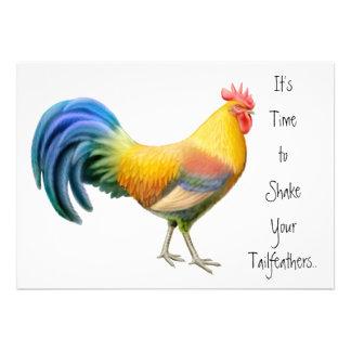 Invitación grande del fiesta del gallo