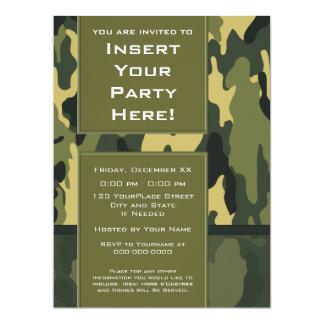 Invitación grande del fiesta: Los militares verdes