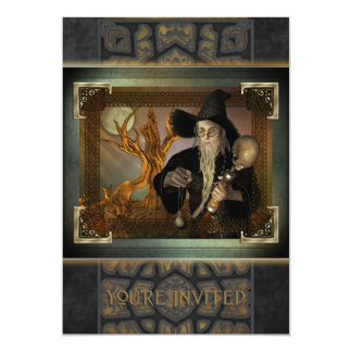 Invitación grande mágica de los magos invitación 12,7 x 17,8 cm