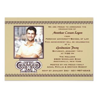 Invitación griega de la graduación de la foto de