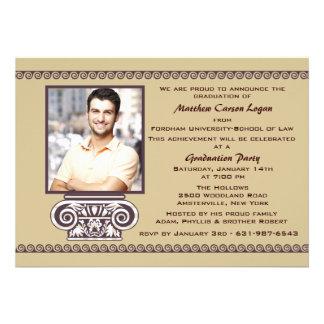 Invitación griega de la graduación de la foto de l