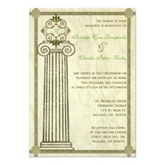 Invitación griega del boda